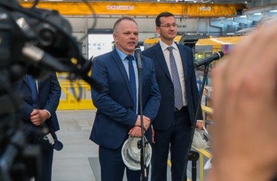 Deputy Prime Minister Mateusz Morawiecki visits NEWAG S.A.