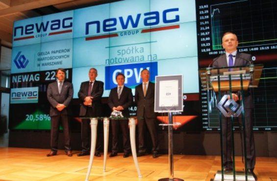 NEWAG S.A. debiutuje na GPW