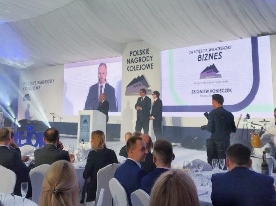 """Zbigniew Konieczek laureatem konkursu """"Polskie Nagrody Kolejowe"""" 2019"""